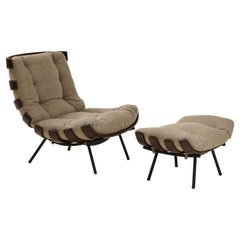 Mid-Century Modern Costela Lounge Chair by Carlo Hauner and Martin Eisler, 1950s