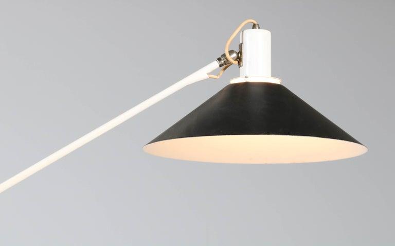 Enameled Mid-Century Modern Counter Balance Ceiling Light by J.J.M. Hoogervorst for Anvia For Sale