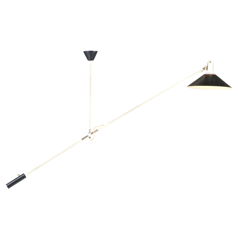 Mid-Century Modern Counter Balance Ceiling Light by J.J.M. Hoogervorst for Anvia