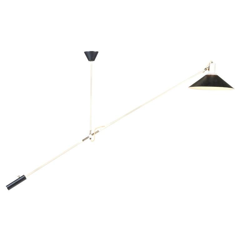 Mid-Century Modern Counter Balance Ceiling Light by J.J.M. Hoogervorst for Anvia For Sale