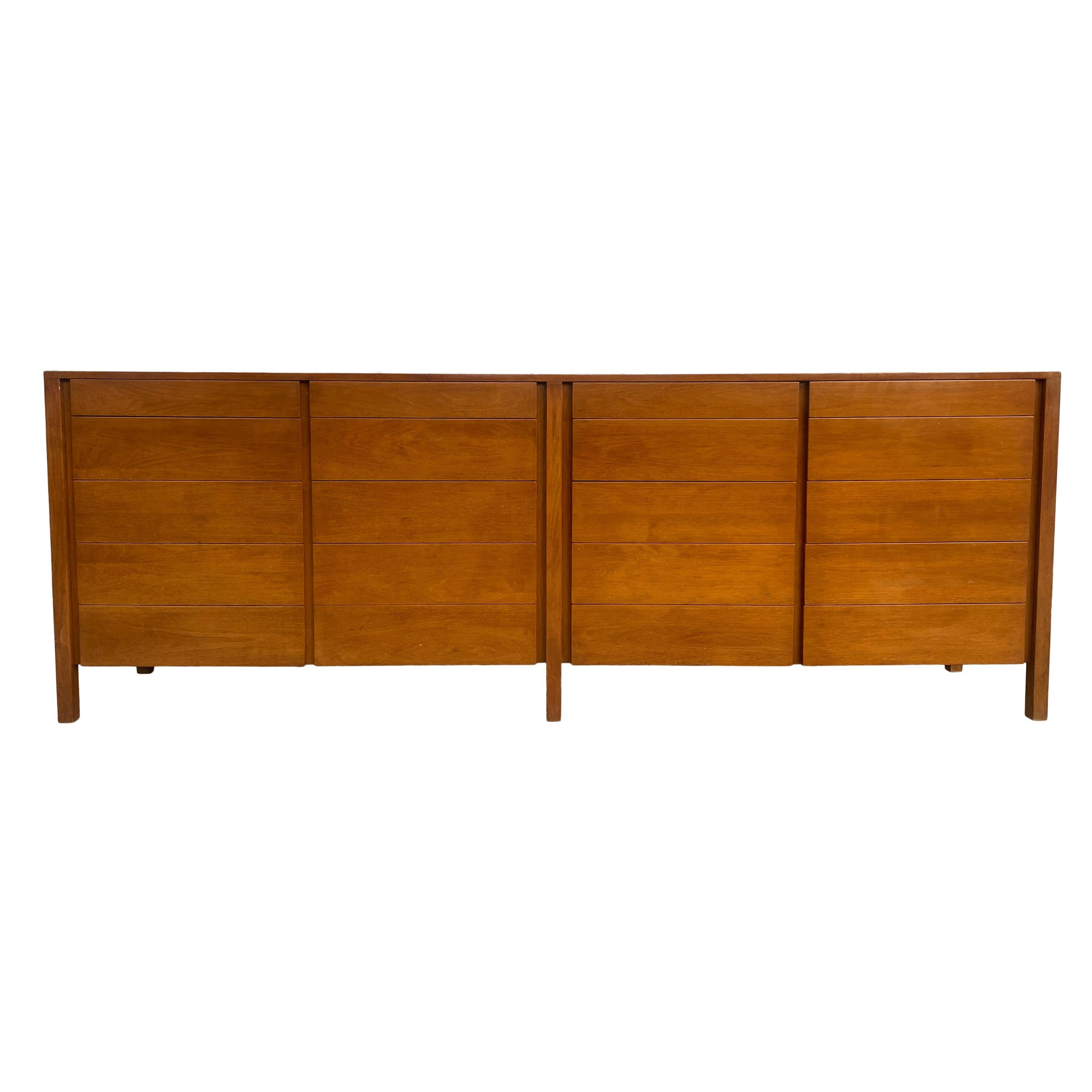 Mid-Century Modern Credenza Dresser with 20 Drawers Custom Made