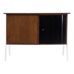 Danish Mid Century Modern Lacquered Cabinet