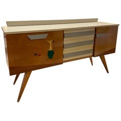 Mid-Century Modern Credenza in Wood, Italy, 1960s