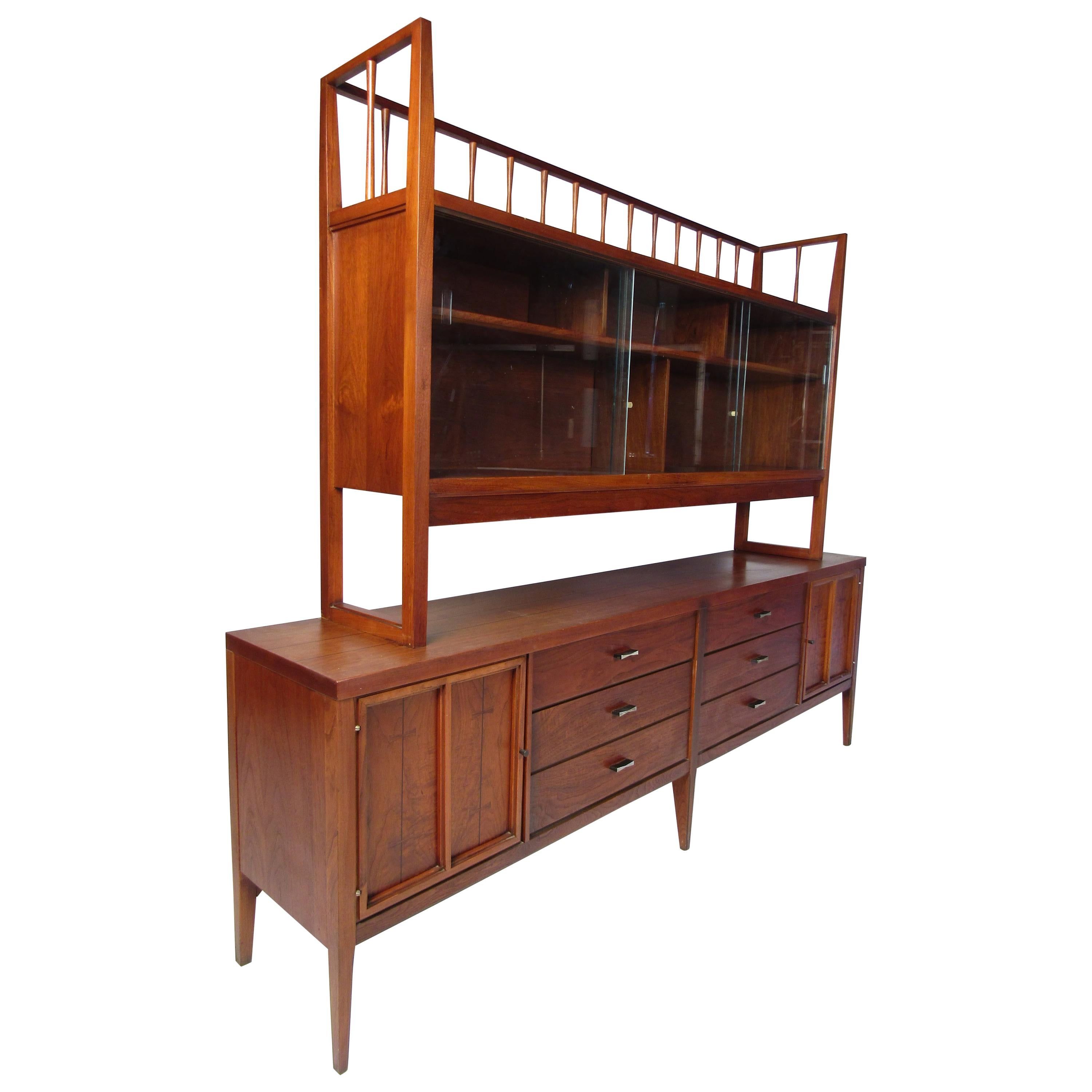Mid-Century Modern Credenza with Topper by Lane