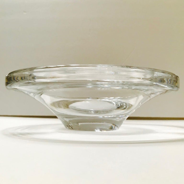 Mid-Century Modern Crystal Ashtray by Lindstrand for Kosta Boda, Sweden, 1960s For Sale 1