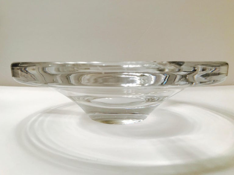 Mid-Century Modern Crystal Ashtray by Lindstrand for Kosta Boda, Sweden, 1960s For Sale 4