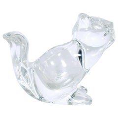Modern Crystal Glass Squirrel Candy Dish midcentury modern decor