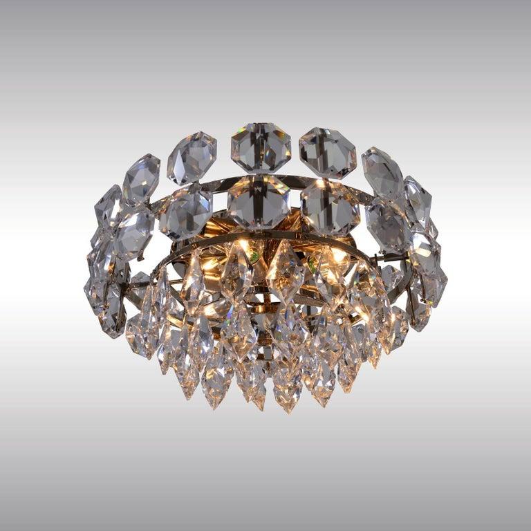 Kronleuchter aus Handgeschliffenem Kristallglas von Woka Lampen, Wien, 1960 3