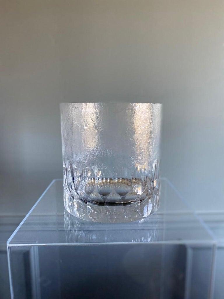 French Mid-Century Modern Crystal Ice Bucket/Vessel