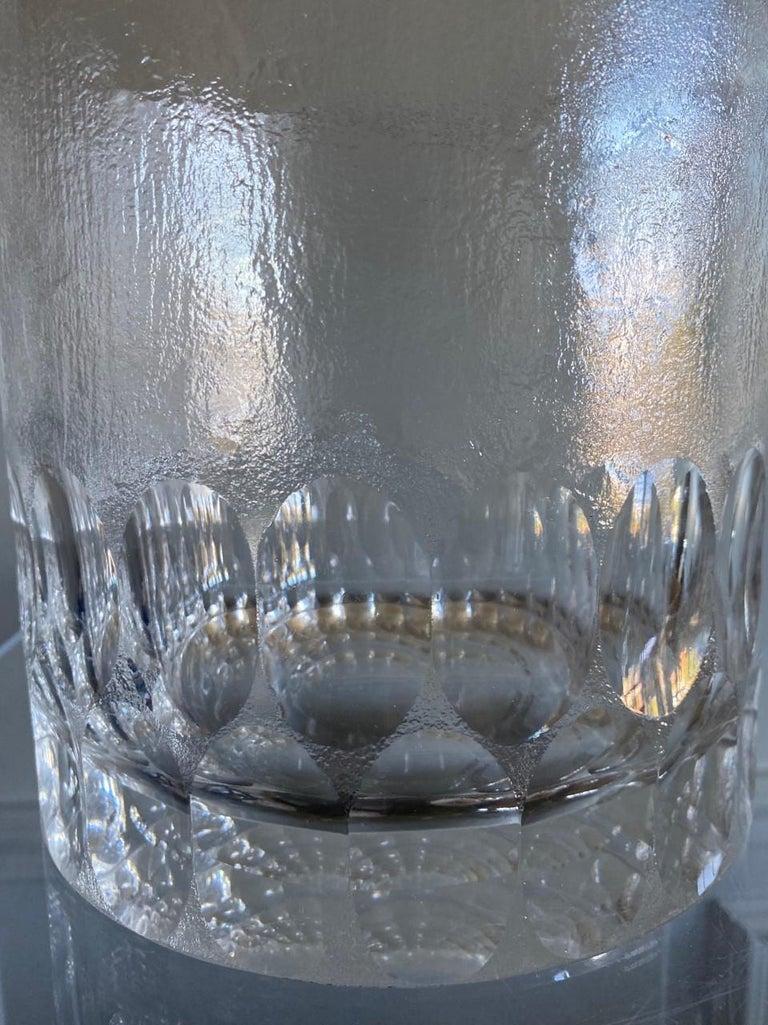 Hand-Crafted Mid-Century Modern Crystal Ice Bucket/Vessel