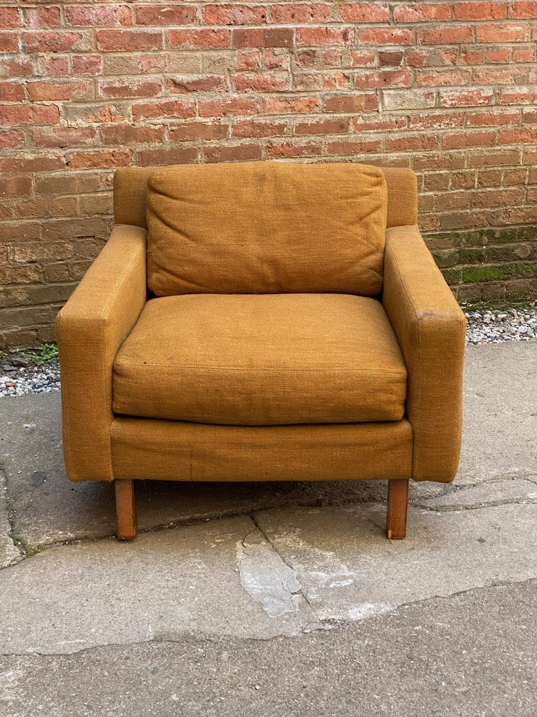 American Mid-Century Modern Cube Chair For Sale