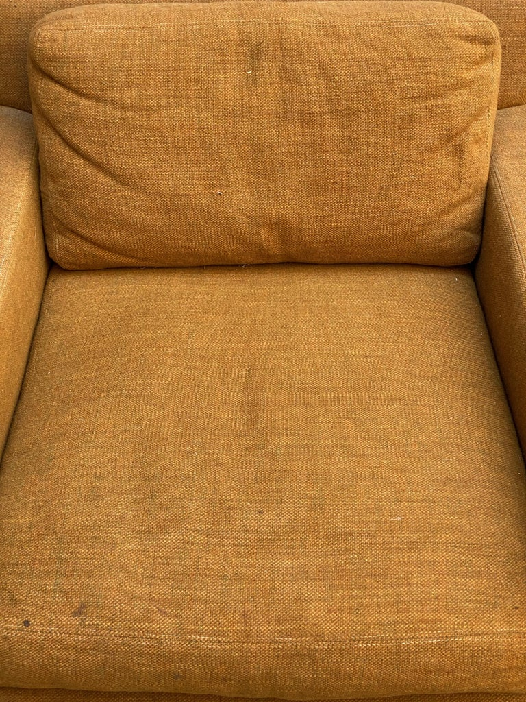 Wool Mid-Century Modern Cube Chair For Sale