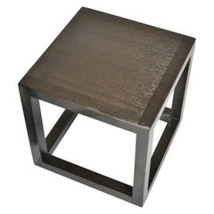 Mid-Century Modern Cube End Tables by Dunbar