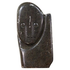 Mid-Century Modern Cubist Carved Stone Sculpture