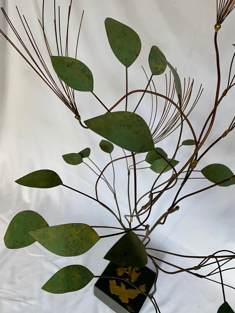 Mid-Century Modern Curtis Jere Brutalist Metal Tree Sculpture, 1960s For Sale 4