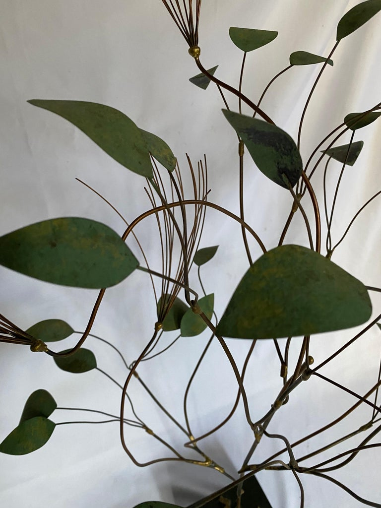Mid-Century Modern Curtis Jere Brutalist Metal Tree Sculpture, 1960s For Sale 5