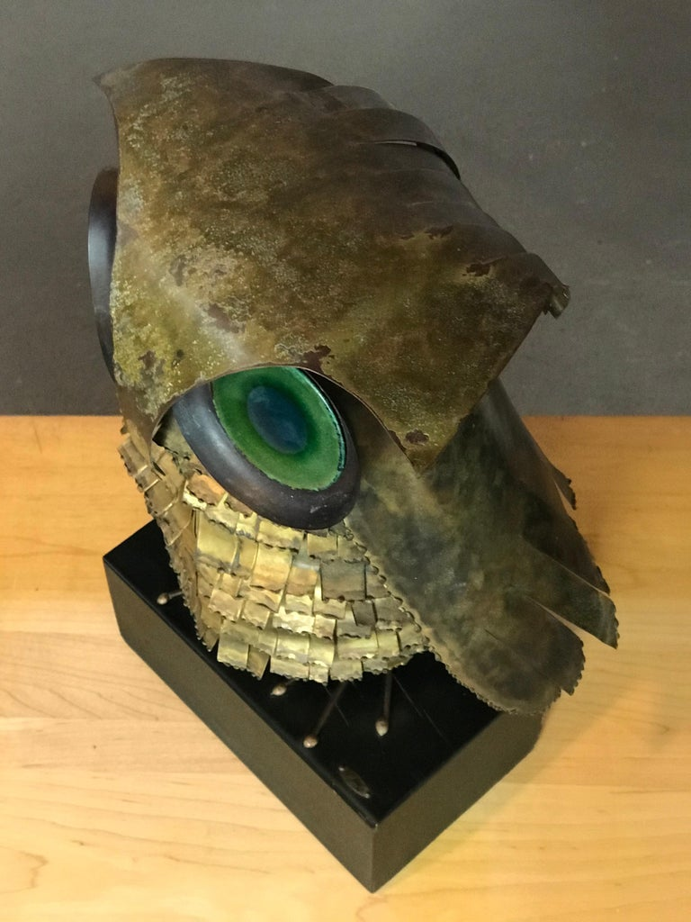 Mid-Century Modern Curtis Jere Large Owl Sculpture Signed, 1967 For Sale 4