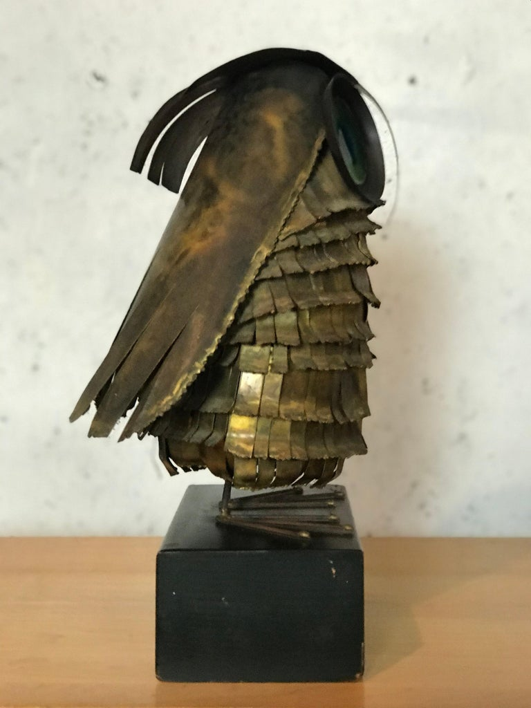 Mid-Century Modern Curtis Jere Large Owl Sculpture Signed, 1967 For Sale 8