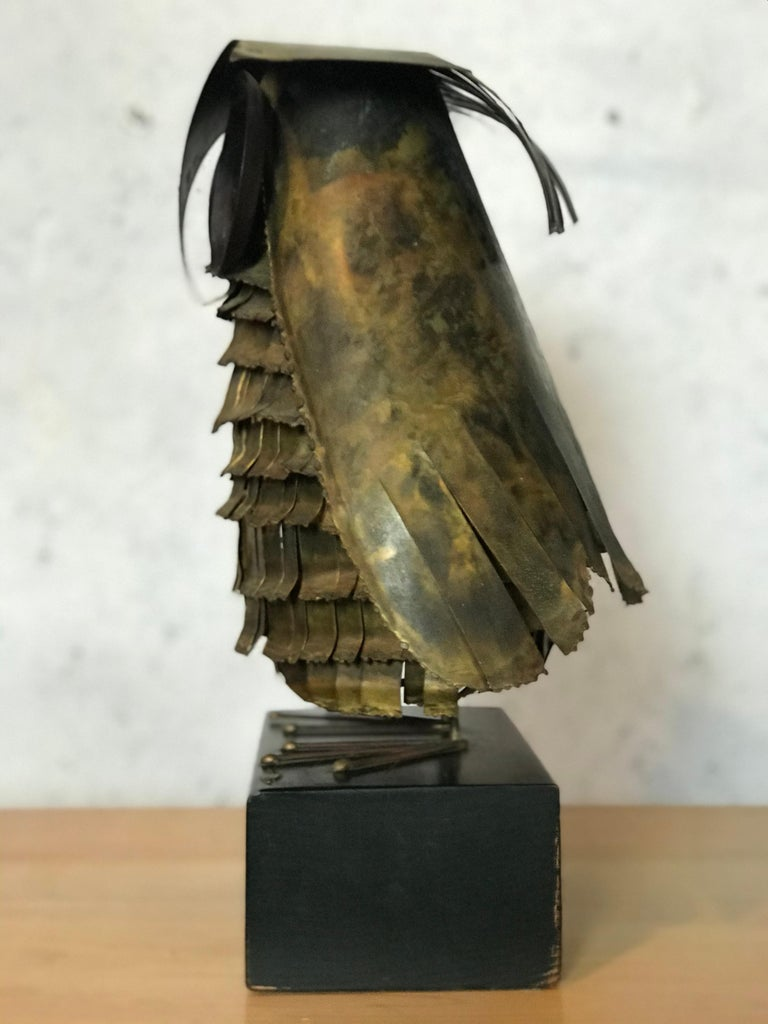 Mid-Century Modern Curtis Jere Large Owl Sculpture Signed, 1967 For Sale 9