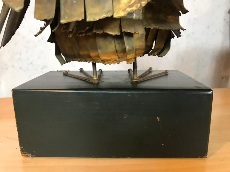 Mid-Century Modern Curtis Jere Large Owl Sculpture Signed, 1967 For Sale 2