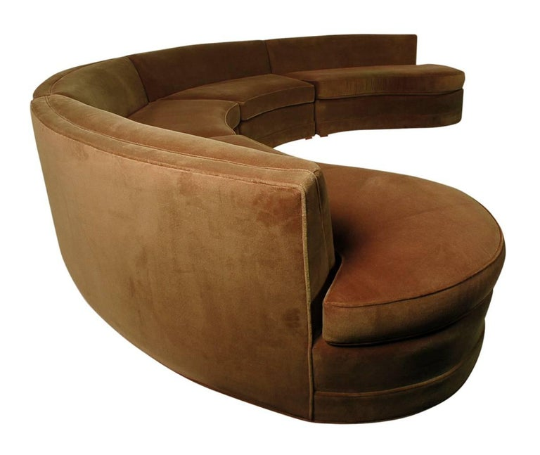 Mid-Century Modern Curved Circular Pit Sectional Sofa at ...