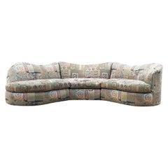 Mid-Century Modern Curved Circular Sectional Sofa