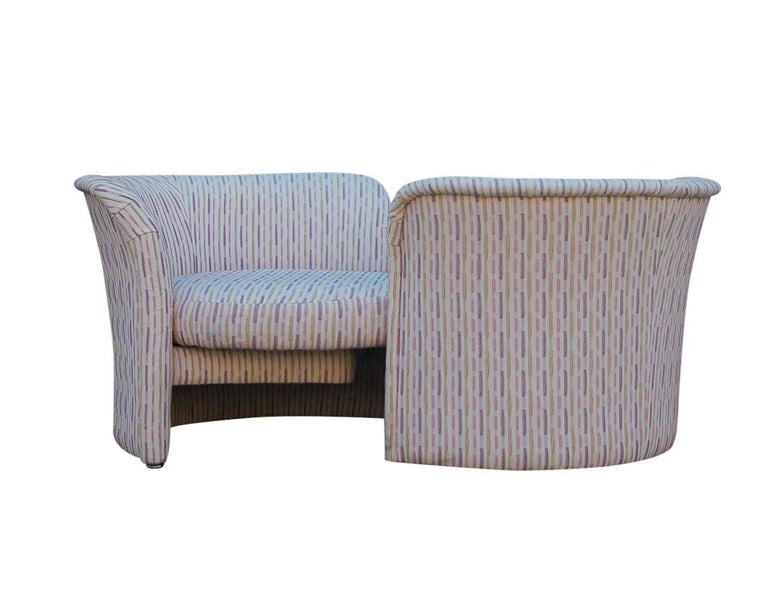 Mid-Century Modern Curved Loveseat Sofa or Chaise Lounge by Randy Culler  For Sale 5