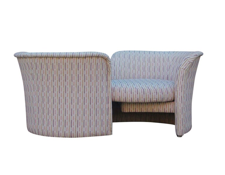 Late 20th Century Mid-Century Modern Curved Loveseat Sofa or Chaise Lounge by Randy Culler  For Sale