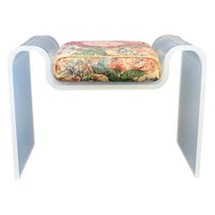Mid-Century Modern Curved Lucite Acrylic Bench Charles Hollis Jones Seat, 1970s