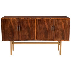 Mid-Century Modern Curved Rosewood Credenza by Heritage