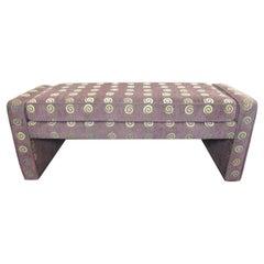 Mid-Century Modern Cushioned Bench
