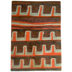 Mid-Century Modern Custom Paul Wieland Wool Rug