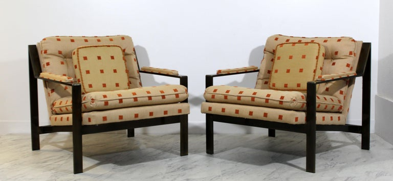 For your consideration is a stunning and rare pair of bronze armchairs by Cy Mann, circa the 1970s. In excellent condition. The dimensions are 29.5