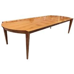 Mid-Century Modern Dakota Jackson Australian Lacewood Dining / Conference Table