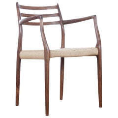 Mid-Century Modern Danish Armchair Model 62 by Niels O. Møller, New Production