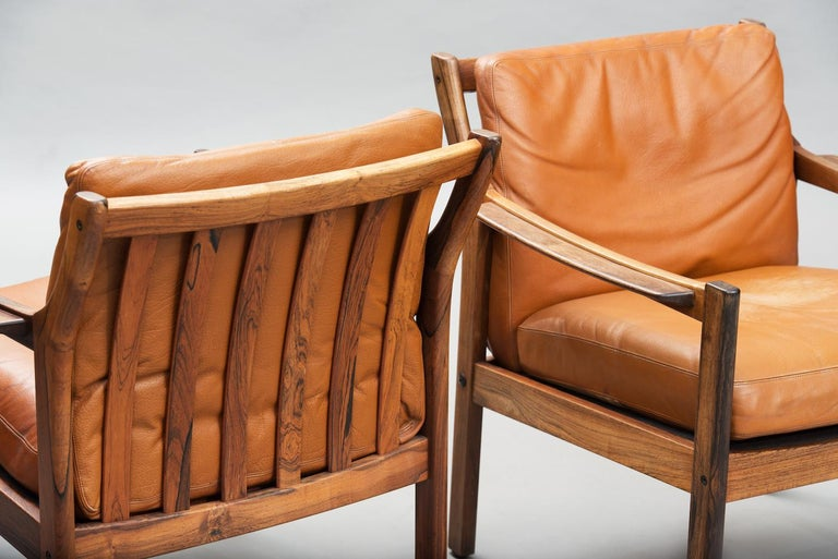 Mid-Century Modern Danish rosewood Armchairs In Fair Condition For Sale In Porto, PT