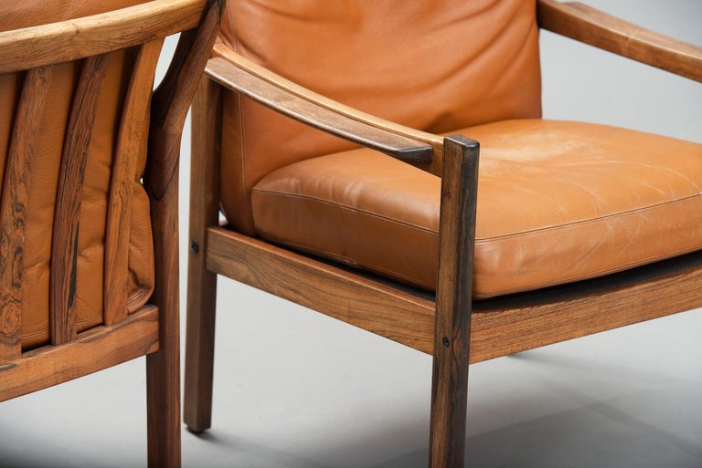 Mid-20th Century Mid-Century Modern Danish rosewood Armchairs For Sale
