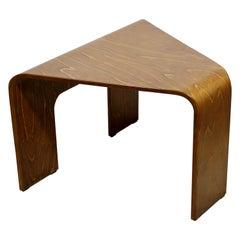 Mid-Century Modern Danish Bentwood Corner Side End Table 1960s Dansk Style