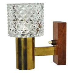 Mid-Century Modern Danish Brass and Teak Sconce, 1960s