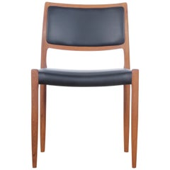 Mid-Century Modern Danish Chair Model 80 by Niels Møller, New Edition