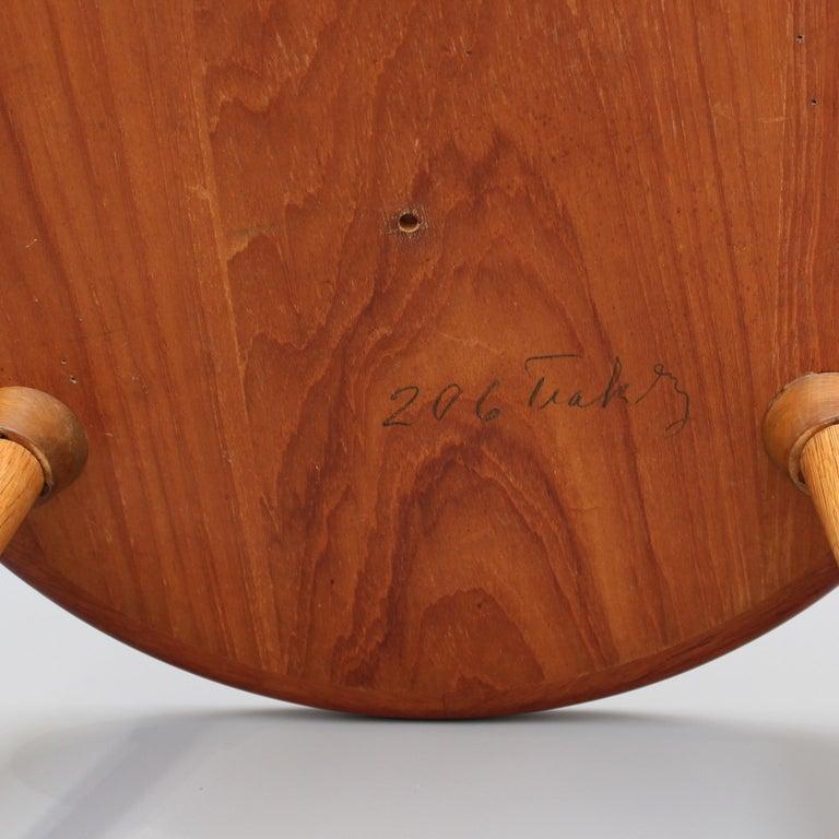 Mid-Century Modern Danish Circular Teak End Table, circa 1960s For Sale 6