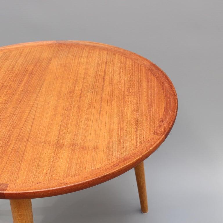 Mid-20th Century Mid-Century Modern Danish Circular Teak End Table, circa 1960s For Sale