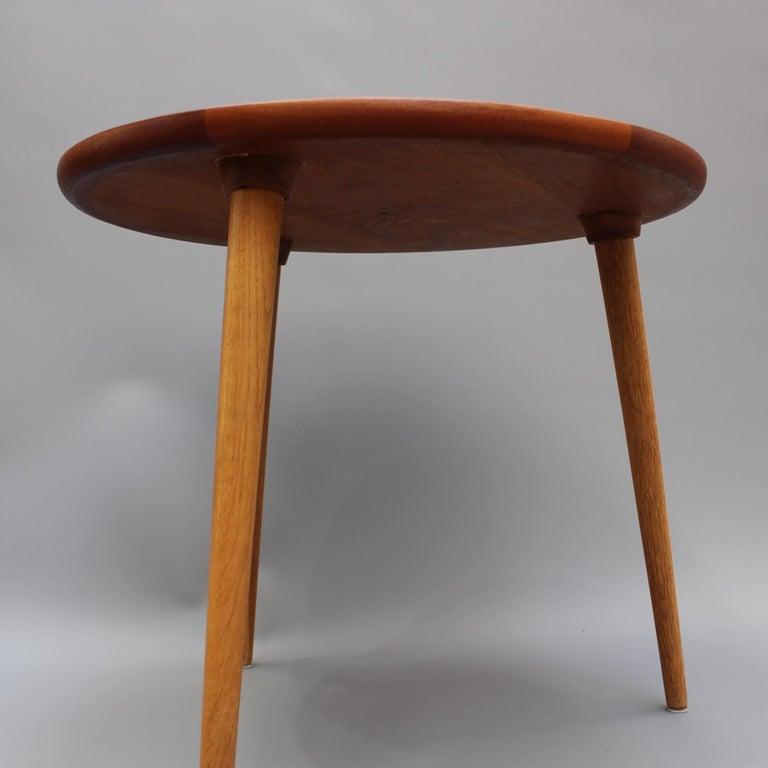 Mid-Century Modern Danish Circular Teak End Table, circa 1960s For Sale 3