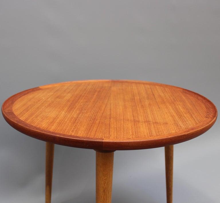 Mid-Century Modern Danish Circular Teak End Table, circa 1960s For Sale 4