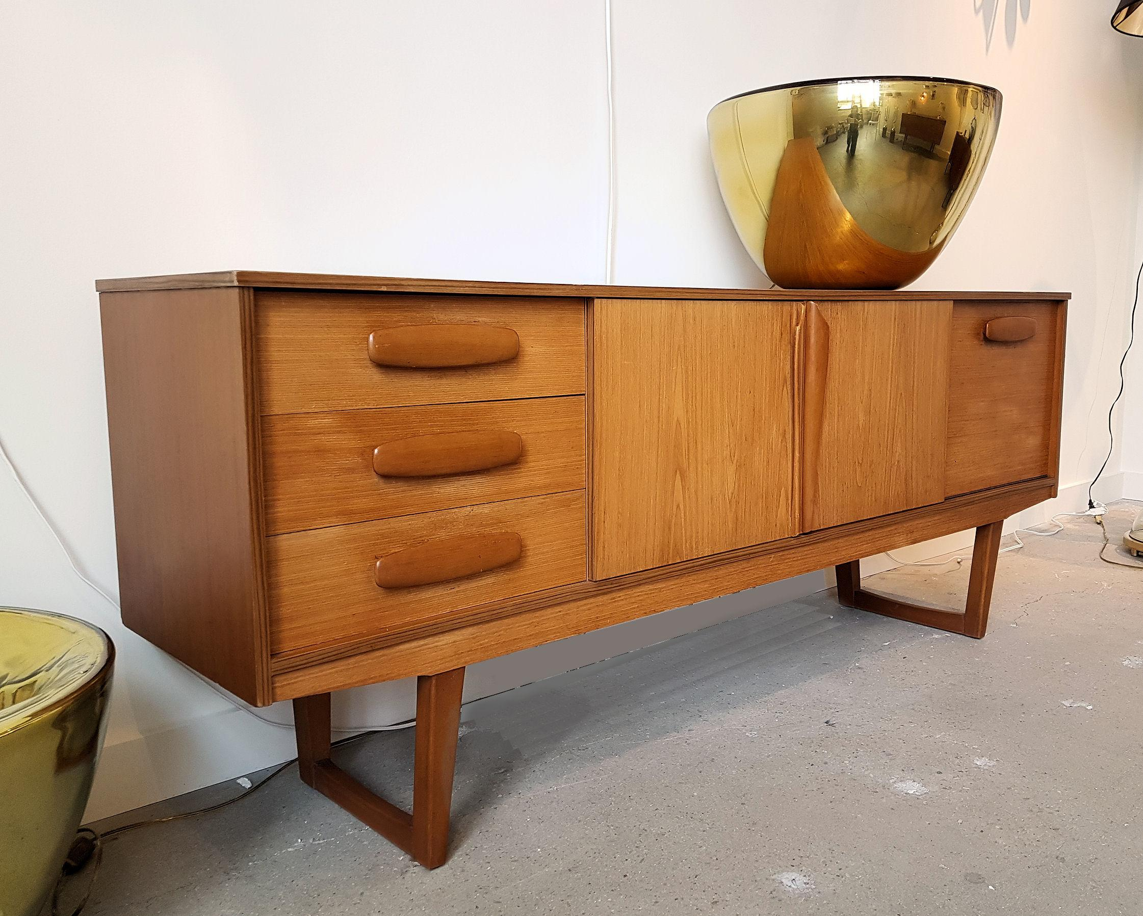 Mid Century Modern Danish Credenza : Mid century modern danish clear cherrywood sideboard or credenza