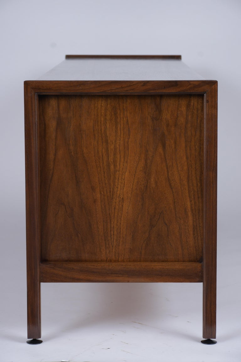 Mid Century Modern Walnut Lacquered Credenza For Sale 2