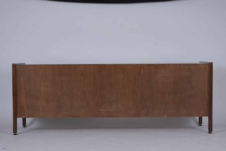 Mid Century Modern Walnut Lacquered Credenza For Sale 3