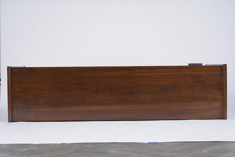 Mid Century Modern Walnut Lacquered Credenza For Sale 4