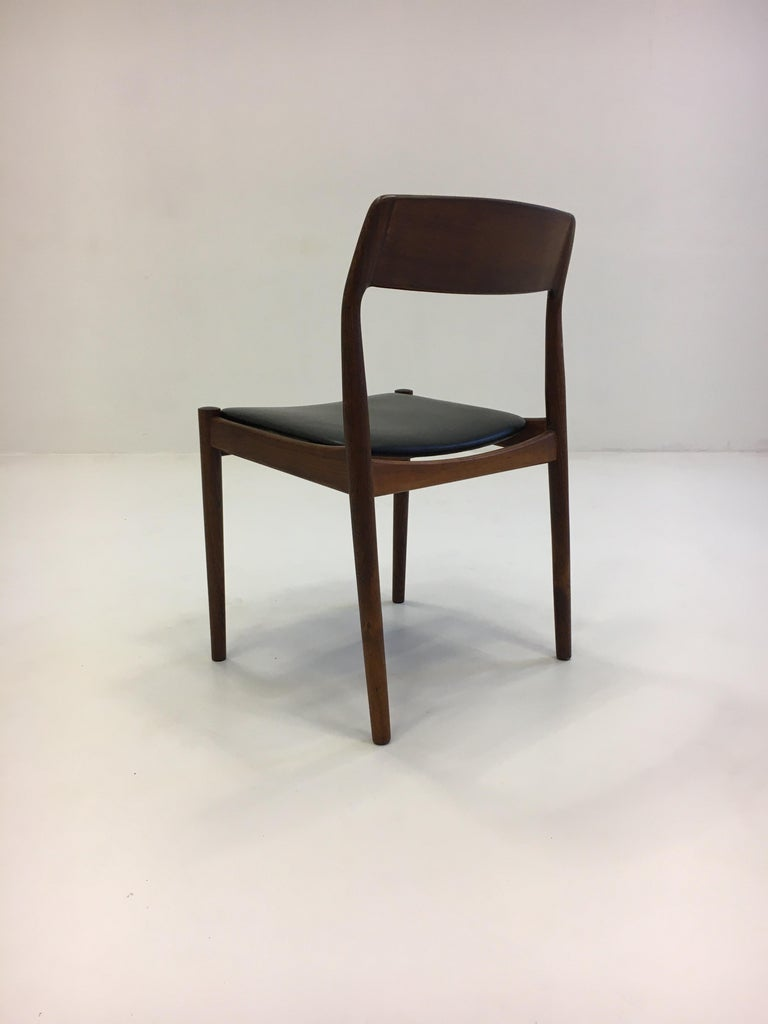 Johannes Nørgaard Mid-Century Modern Danish Dining Chairs, Denmark 1950s For Sale 5
