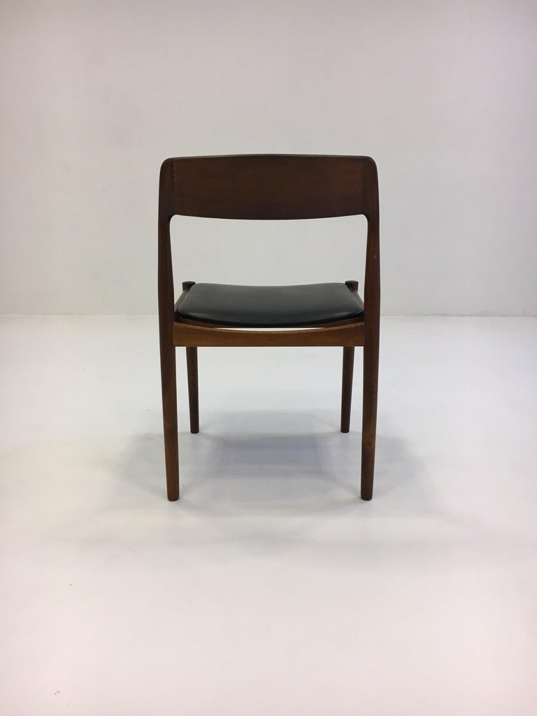 Johannes Nørgaard Mid-Century Modern Danish Dining Chairs, Denmark 1950s For Sale 6